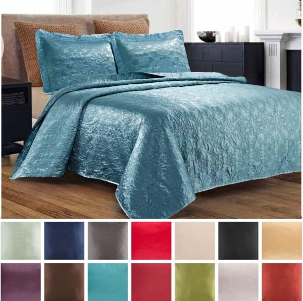 King Size Quilted Bedspread Set