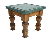 Silver Trails Western End Table -18x18x17--Silver Conchos ...