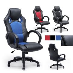 Gaming Chair Ebay Mid Century Modern High Back Race Car Style Bucket Seat Office Desk Computer New |