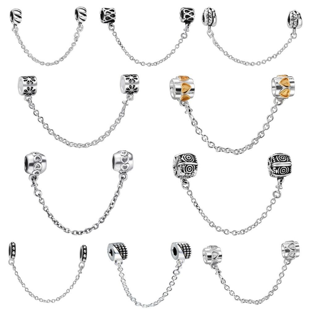 European Safety Chain 925 Silver Sterling Bead For Brand