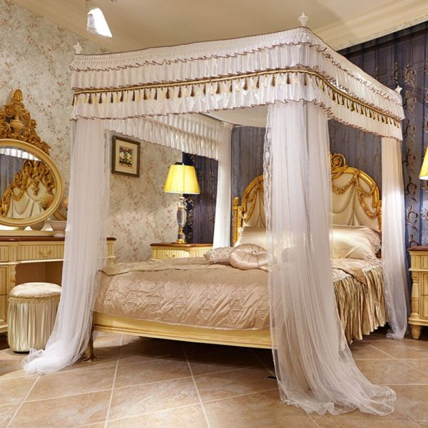 Romantic Mosquito Net Bed Canopy Curtain Stainless