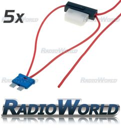 details about 5x inline 8a atc blade fuse tap car audio quick ingition live splice add circuit [ 1000 x 1000 Pixel ]