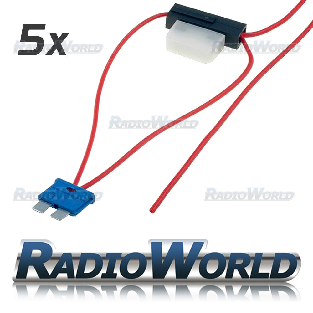 hight resolution of details about 5x inline 8a atc blade fuse tap car audio quick ingition live splice add circuit