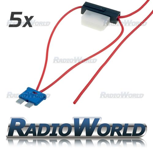 small resolution of details about 5x inline 8a atc blade fuse tap car audio quick ingition live splice add circuit