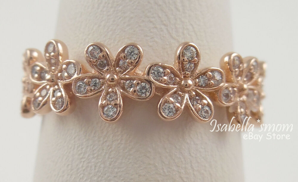 DAZZLING DAISY Authentic PANDORA Rose GOLD Plated Band