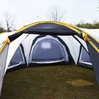 Waterproof 6-9 Person 3+1 Room Camping Tent Hiking Two ...