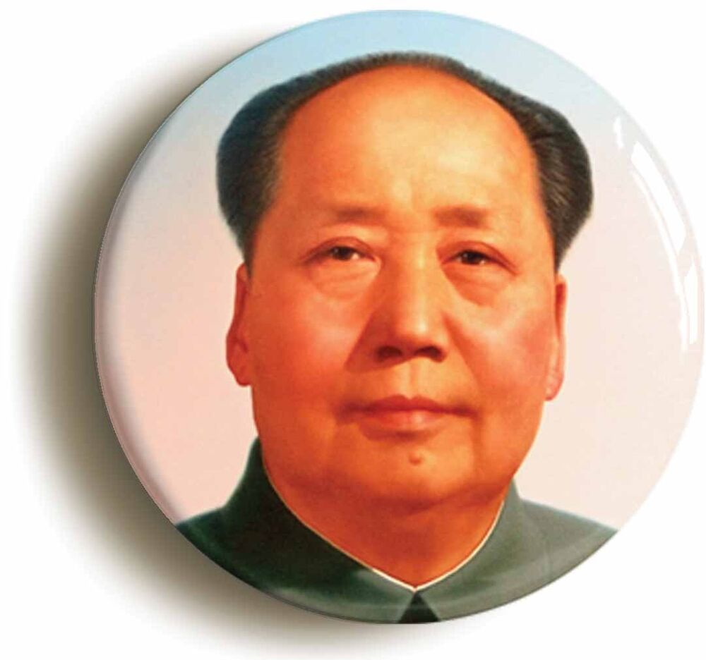 CHAIRMAN MAO BADGE BUTTON PIN Size is 1inch25mm diameter