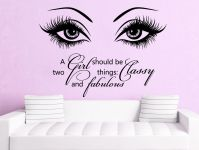 Eye Wall Decals Make Up Vinyl Stickers Beauty Salon Quote ...