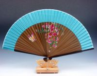 Chinese Flowers & Butterfly Folding Fan Hand Fan Wall ...
