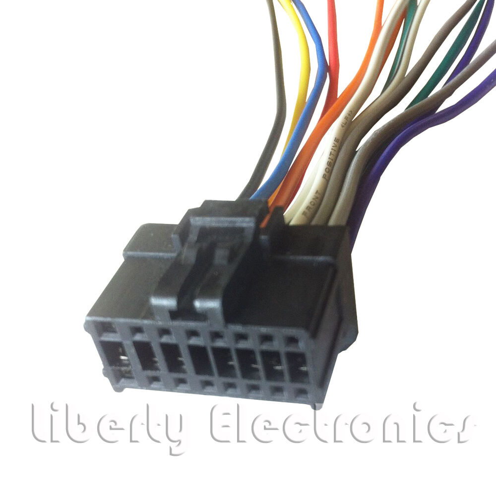 hight resolution of new 16 pin auto stereo wire harness plug for pioneer deh 1900mp pioneer deh 1900mp wiring harness