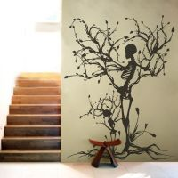 Halloween Skeleton Wall Decal Motivation Vinyl Tree of ...