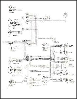 1978 Malibu Classic and Monte Carlo Wiring Diagram 78