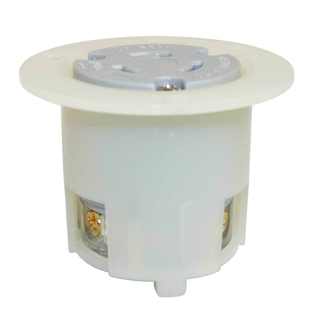 hight resolution of details about nema l6 20r 2 pole 3w 20a 250v heavy duty twist lock receptacle flange outlet