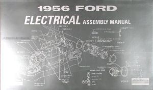 1956 Ford Car Electrical Assembly Manual 56 Wiring Diagrams Factory Schematics | eBay