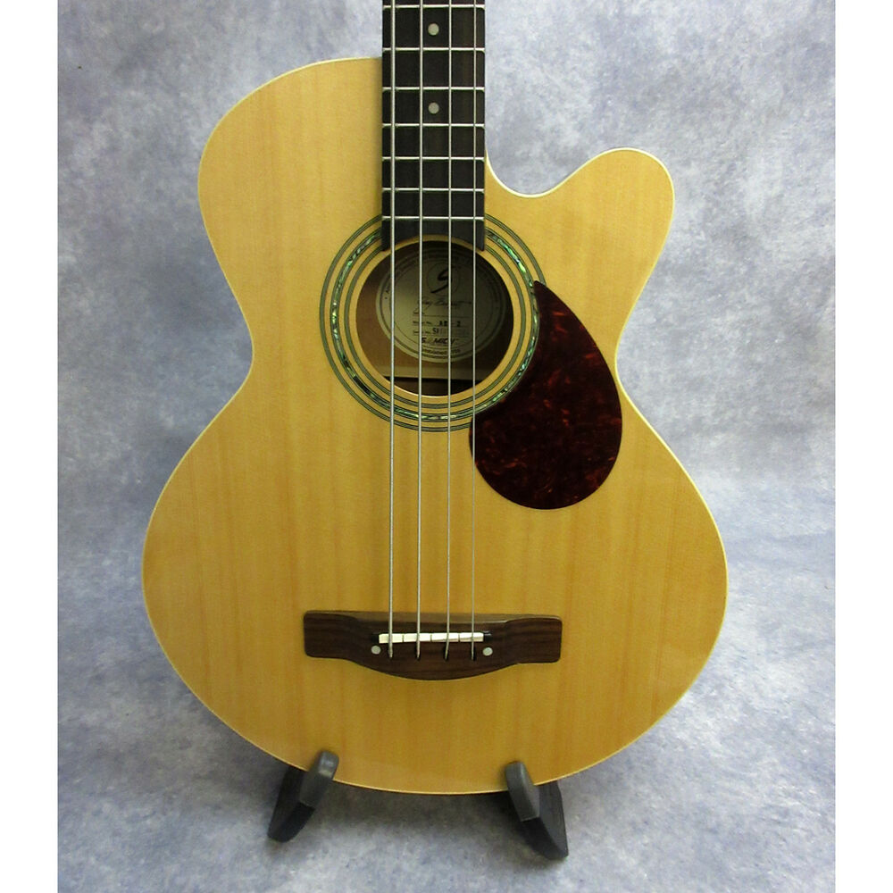 hight resolution of details about greg bennett design by samick ab 2 acoustic 4 string bass w case natural