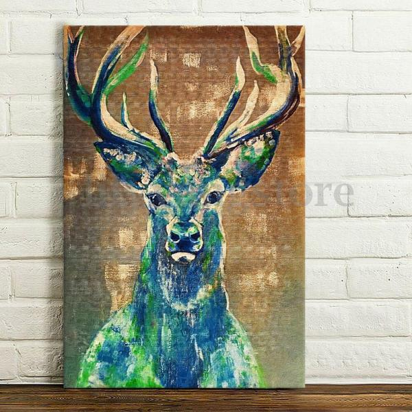 Modern Hd Huge Abstract Wall Art Oil Painting Poster Canvas - Deer Frame