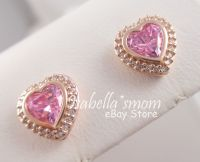 SPARKLING Love PANDORA Rose GOLD Plated/PINK HEARTS ...
