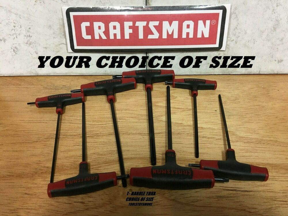 NEW CRAFTSMAN T-THROUGH HANDLE TORX DRIVER CHOICE OF SIZE