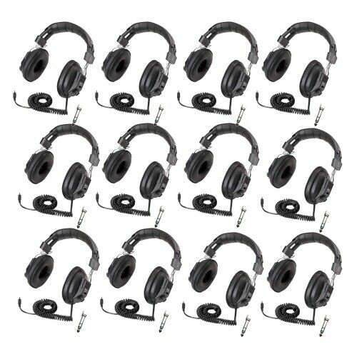 Califone 3068AV Switchable Stereo/Mono Headphones 12-Pack