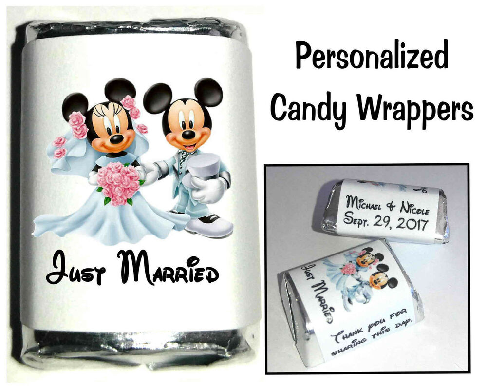 120 DISNEY MICKEY AND MINNIE MOUSE WEDDING CANDY WRAPPERS
