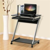 Computer Desk Z-Shaped with Keyboard Shelf Home Office ...