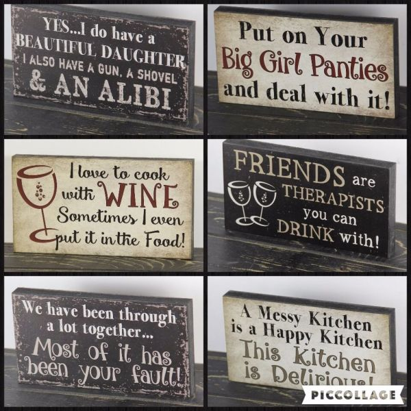 Kitchen Wood Signs with Sayings