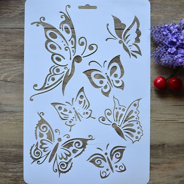Reusable Butterfly Stencil Painting Art Diy Home Decor