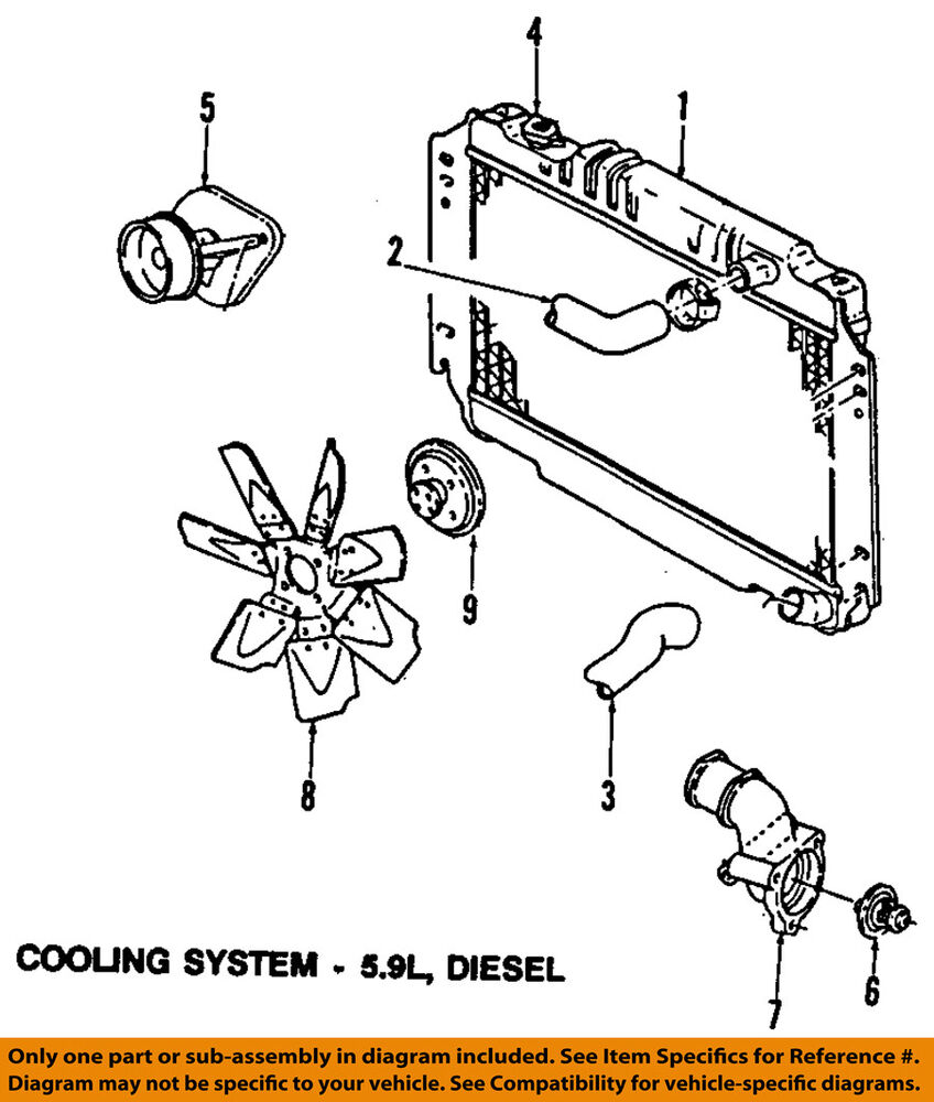 medium resolution of details about dodge chrysler oem 89 93 w250 engine coolant thermostat 83506401aa
