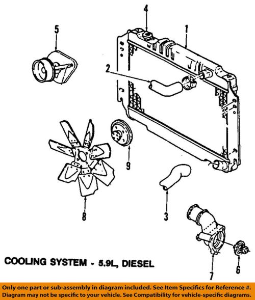 small resolution of details about dodge chrysler oem 89 93 w250 engine coolant thermostat 83506401aa
