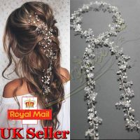 Pearls Wedding Hair Vine Crystal Bridal Accessories ...