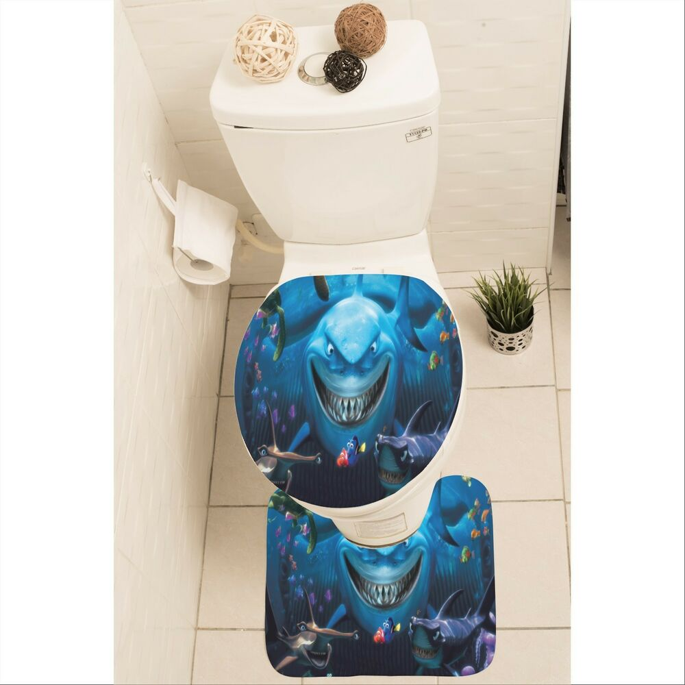 Nemo Bathroom Set Finding Nemo Set Of 3 Bathroom Rug Set Mat Toilet Lid Cover Y70 W0020 Ebay