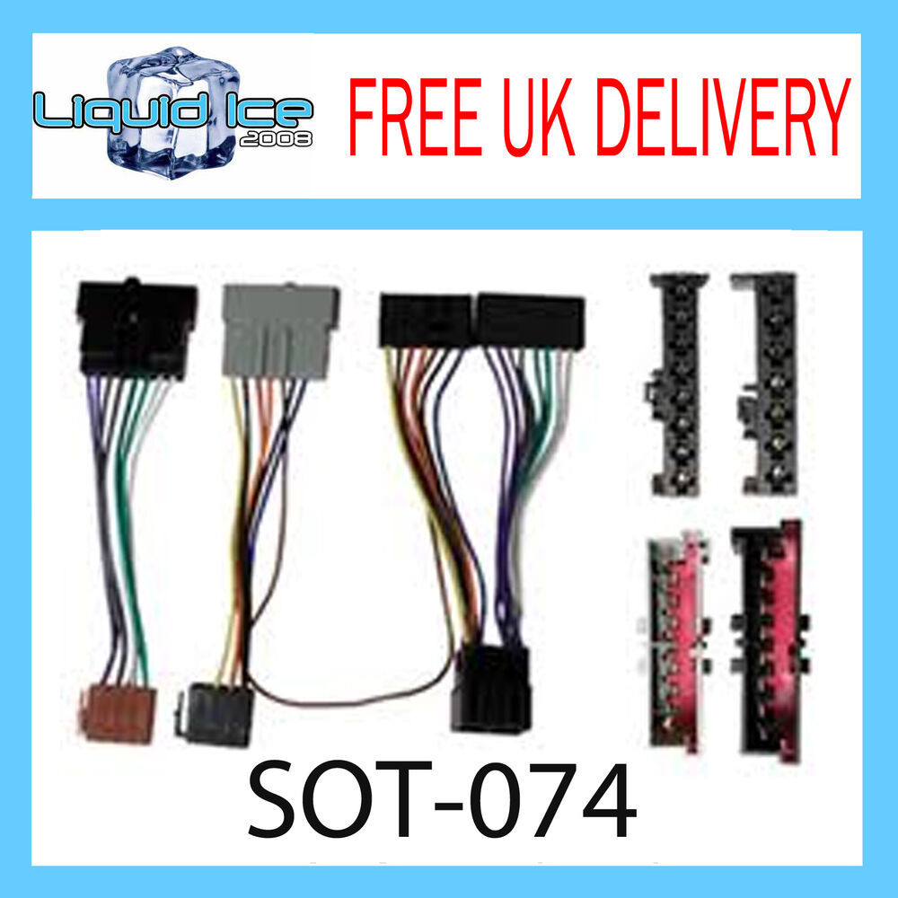 hight resolution of sot 074 ford connect 1997 2006 iso parrot harness adaptor wiring loom lead ebay
