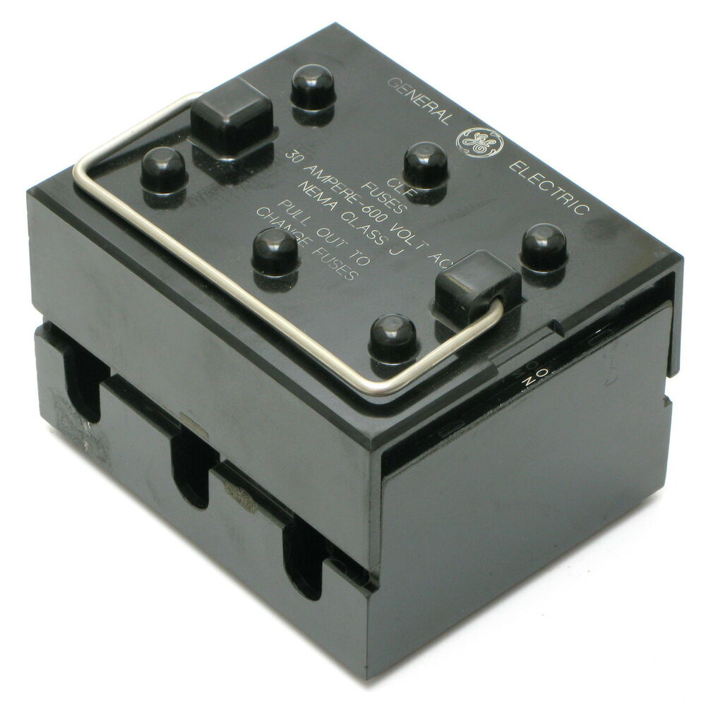 medium resolution of details about general electric 116b4075 600vac 30a 3 pole pull out fuse box