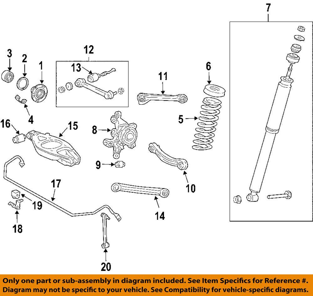 hight resolution of details about chrysler oem 04 08 crossfire rear suspension gasket 5096818aa
