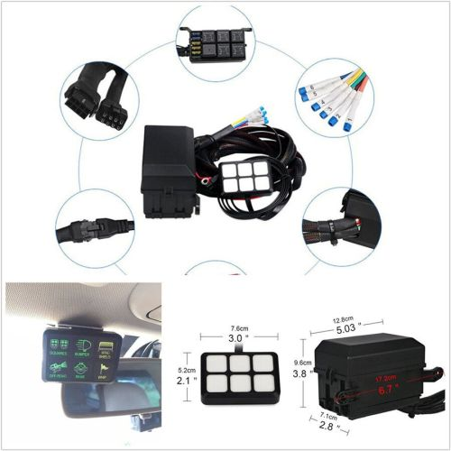 small resolution of details about 6 gang 6led autos switch panel relay control box wiring harness dc12v universal