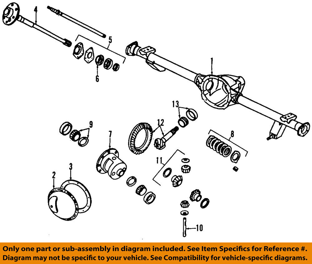 hight resolution of details about jeep chrysler oem 03 06 wrangler rear axle housing 5083672ab