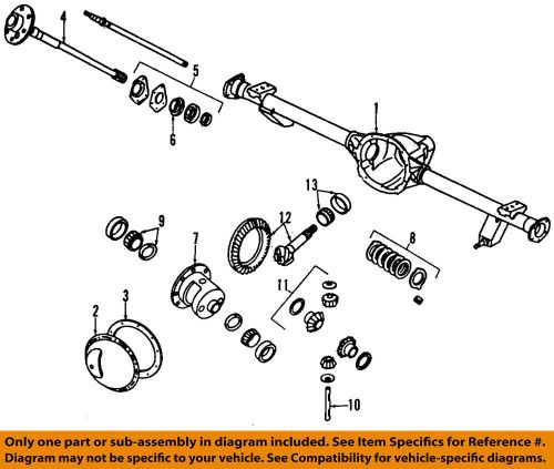 small resolution of details about jeep chrysler oem 03 06 wrangler rear axle housing 5083672ab