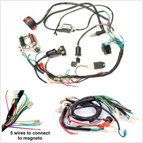 small resolution of details about one set electric atv cdi wire harness stator wiring kit for 50cc 70cc 90cc 110cc