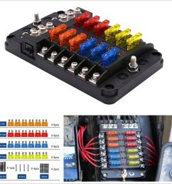 details about 12 way car suv marine boat 12 24v blade fuse holder box 24 fuses 5a 10a 15a 20a [ 900 x 900 Pixel ]