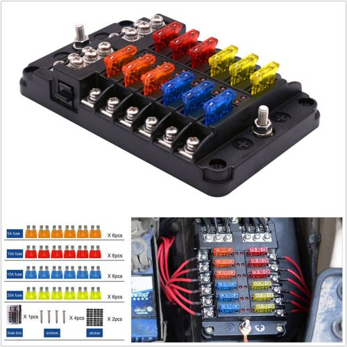 small resolution of details about 12 way car suv marine boat 12 24v blade fuse holder box 24 fuses 5a 10a 15a 20a