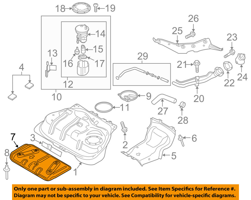 hight resolution of details about fiat oem 2018 124 spider 1 4l l4 fuel system heat shield 68336552aa