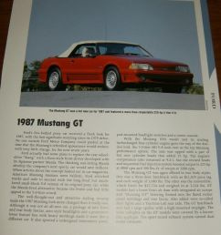 details about 1987 mustang gt specs info photo 87 93 convertible gt lx 5 0 302 [ 892 x 1000 Pixel ]