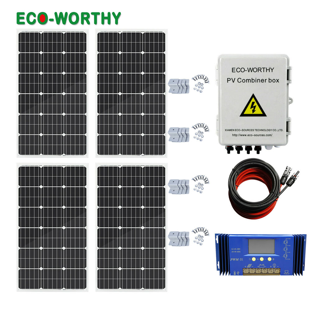 medium resolution of details about eco 400w off grid solar panel system 100w solar panel home power charger kit