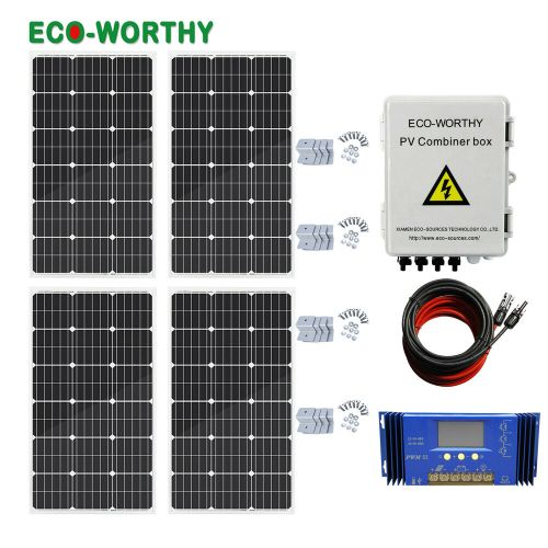 small resolution of details about eco 400w off grid solar panel system 100w solar panel home power charger kit