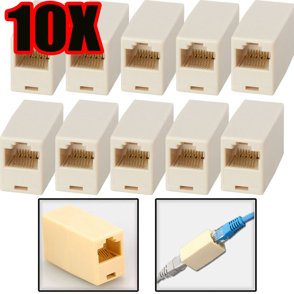 hight resolution of details about 10x rj45 cat5e cat 5 coupler joiner connector broadband ethernet network cable