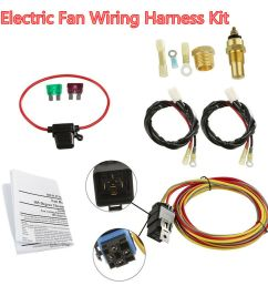 details about car dual electric cooling fan wiring harness install kit 185 165 thermostat 40a [ 1000 x 1000 Pixel ]