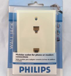 upc 609585139220 product image for philips rj12 dual port wall jack plate mount double 6p6c modem [ 1200 x 1600 Pixel ]