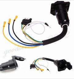 details about car suv trailer wiring adapter plug 4pin flat to 7pin round towbar socket 12v x1 [ 900 x 900 Pixel ]