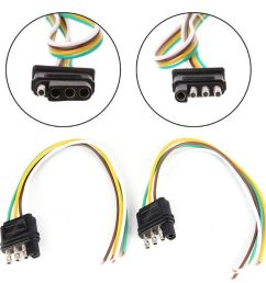 details about trailer light wiring harness extension 4 pin plug 18 awg flat wire connecto ap [ 1000 x 1000 Pixel ]