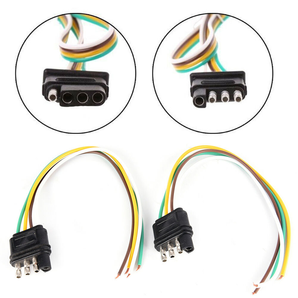 hight resolution of details about trailer light wiring harness extension 4 pin plug 18 awg flat wire connecto ap